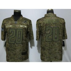 Detroit Lions #20 Barry Sanders Camo Salute To Service Limited Nike NFL Men Jersey