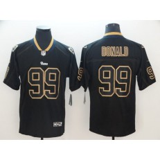 Los Angeles Rams #99 Aaron Donald Black Shadow Legend Limited Nike NFL Men Jersey