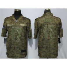 Los Angeles Chargers #17 Philip Rivers Camo Salute To Service Limited Nike NFL Men Jersey