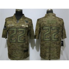 Tennessee Titans #22 Derrick Henry Camo Salute To Service Limited Nike NFL Men Jersey