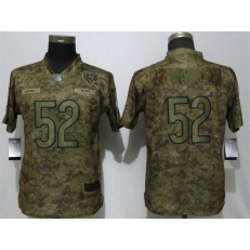 Women Nike Chicago Bears #52 Khalil Mack Camo Salute To Service Limited Jersey