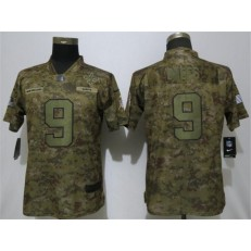 Women Nike New Orleans Saints #9 Drew Brees Camo Salute To Service Limited Jersey
