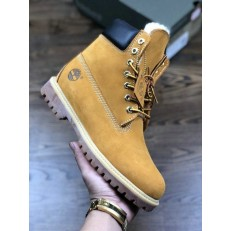TIMBERLAND 6 INCH WHEAT BOOTS WITH WOOL