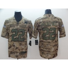 Carolina Panthers #22 Christian McCaffrey Camo Salute To Service Limited Nike NFL Men Jersey