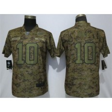 Women Nike Kansas City Chiefs #10 Tyreek Hill Camo Camo Salute To Service Limited Jersey