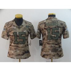 Women Nike Kansas City Chiefs #15 Patrick Mahomes Camo Salute To Service Limited Jersey