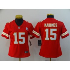Women Nike Kansas City Chiefs #15 Patrick Mahomes Red Vapor Untouchable Limited Jersey