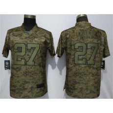 Women Nike Kansas City Chiefs #27 Kareem Hunt Camo Camo Salute To Service Limited Jersey
