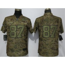 Women Nike Kansas City Chiefs #87 Travis Kelce Camo Camo Salute To Service Limited Jersey