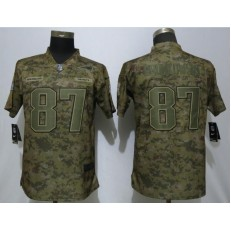 Women Nike New England Patriots #87 Rob Gronkowski Camo Salute To Service Limited Jersey