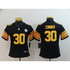 Women Nike Pittsburgh Steelers #30 James Conner Black Color Rush Limited NFL Jersey