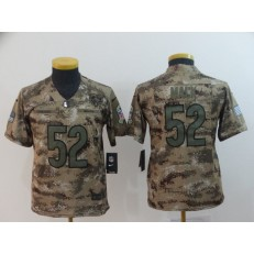 Youth Nike Chicago Bears #52 Khalil Mack Camo Salute To Service Limited Jersey