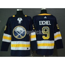 Buffalo Sabres #9 Jack Eichel Navy Drift Fashion Adidas NHL Men Jersey