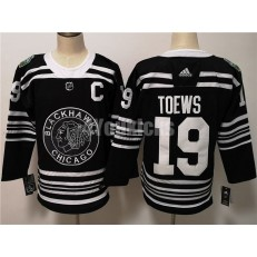 Chicago Blackhawks #19 Jonthan Toews Black 2019 Winter Classic Adidas NHL Men Jersey