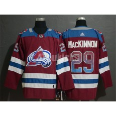 Colorado Avalanche #29 Nathan MacKinnon Burgundy Drift Fashion Adidas NHL Men Jersey