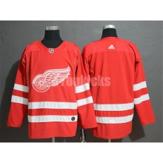Detroit Red Wings Blank Red Adidas NHL Men Jersey