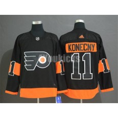Philadelphia Flyers #11 Travis Konecny Black Alternate Adidas Men Jersey