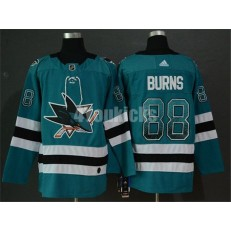 San Jose Sharks #88 Brent Burns Teal Drift Fashion Adidas NHL Men Jersey