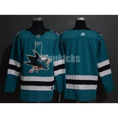 San Jose Sharks Blank Teal Adidas NHL Men Jersey