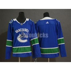 Vancouver Canucks Blank Blue Youth Adidas Jersey