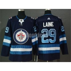 Winnipeg Jets #29 Patrik Laine Navy Drift Fashion Adidas NHL Men Jersey
