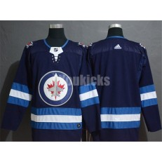 Winnipeg Jets Blank Navy Adidas NHL Men Jersey