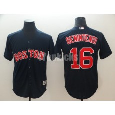 MLB Boston Red Sox #16 Andrew Benintendi Navy Cool Base Jersey