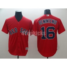 MLB Boston Red Sox #16 Andrew Benintendi Red Cool Base Men Jersey