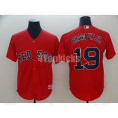 MLB Boston Red Sox #19 Jackie Bradley Jr. Red Cool Base Men Jersey