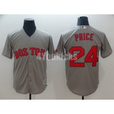 MLB Boston Red Sox #24 David Price Gray Cool Base Jersey