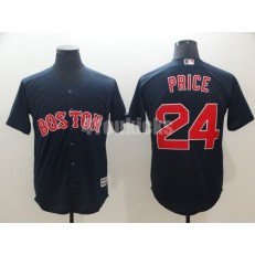 MLB Boston Red Sox #24 David Price Navy Cool Base Jersey