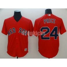 MLB Boston Red Sox #24 David Price Red Cool Base Men Jersey