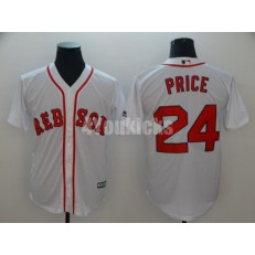 MLB Boston Red Sox #24 David Price White Cool Base Men Jersey