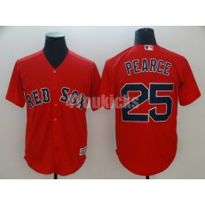 MLB Boston Red Sox #25 Steve Pearce Red Cool Base Men Jersey