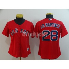 MLB Boston Red Sox #28 J.D. Martinez Red Women Cool Base Jersey
