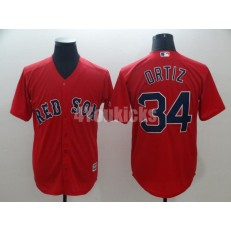 MLB Boston Red Sox #34 David Ortiz Red Cool Base Men Jersey