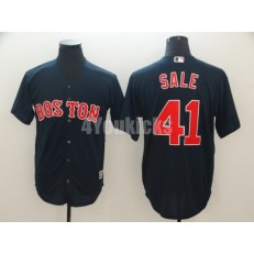 MLB Boston Red Sox #41 Chris Sale Navy Cool Base Jersey