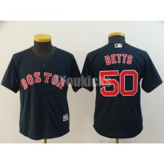 MLB Boston Red Sox #50 Mookie Betts Navy Youth Cool Base Jersey