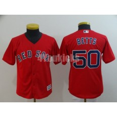 MLB Boston Red Sox #50 Mookie Betts Red Youth Cool Base Jersey