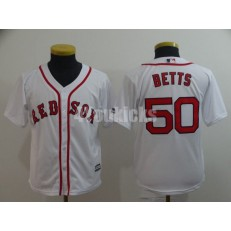 MLB Boston Red Sox #50 Mookie Betts White Youth Cool Base Jersey