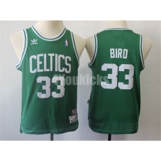 Boston Celtics #33 Larry Bird Green Youth Hardwood Classics Jersey