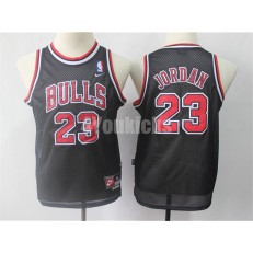 Chicago Bulls #23 Michael Jordan Black Youth Throwback Nike Swingman Jersey