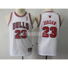Chicago Bulls #23 Michael Jordan White Youth Throwback Nike Swingman Jersey