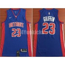 Detroit Pistons #23 Blake Griffin Blue Nike Swingman Men Jersey