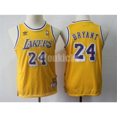 Los Angeles Lakers #24 Kobe Bryant Gold Youth Hardwood Classics Jersey