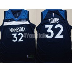 Minnesota Timberwolves #32 Karl-Anthony Towns Navy Nike Swingman Men Jersey