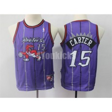 Toronto Raptors #15 Vince Carter Purple Youth Swingman Jersey