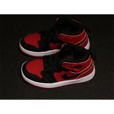 KID'S AIR JORDAN 1 MID ALT BLACK RED 554724-610