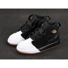 KID'S AIR JORDAN 1 MID GP BLACK WHITE 640737-021