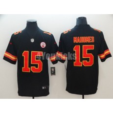 Youth Nike Kansas City Chiefs #15 Patrick Mahomes Black Vapor Untouchable Limited Jersey